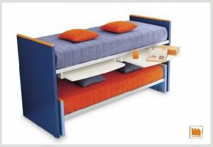 Piano scrivania estraibile dal letto - Letto con scrivania estraibile ...