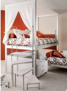 letto moderno a baldacchino tumidei