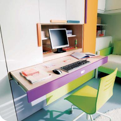scrivania estraibile dall'armadio