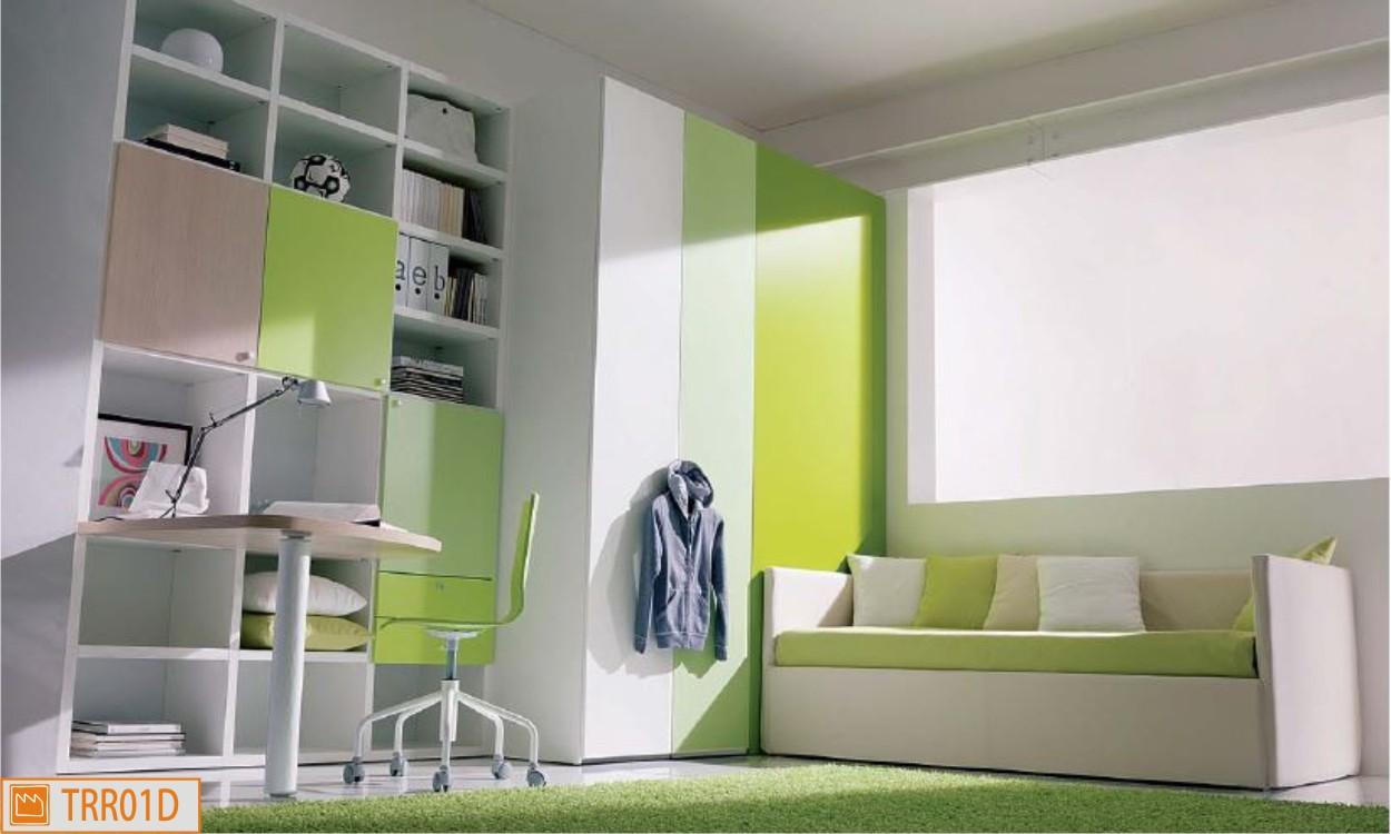 Scrivania Cameretta Verde : Cameretta singola cabina divanetto e scrivania