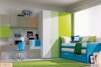 camera verde e azzurra