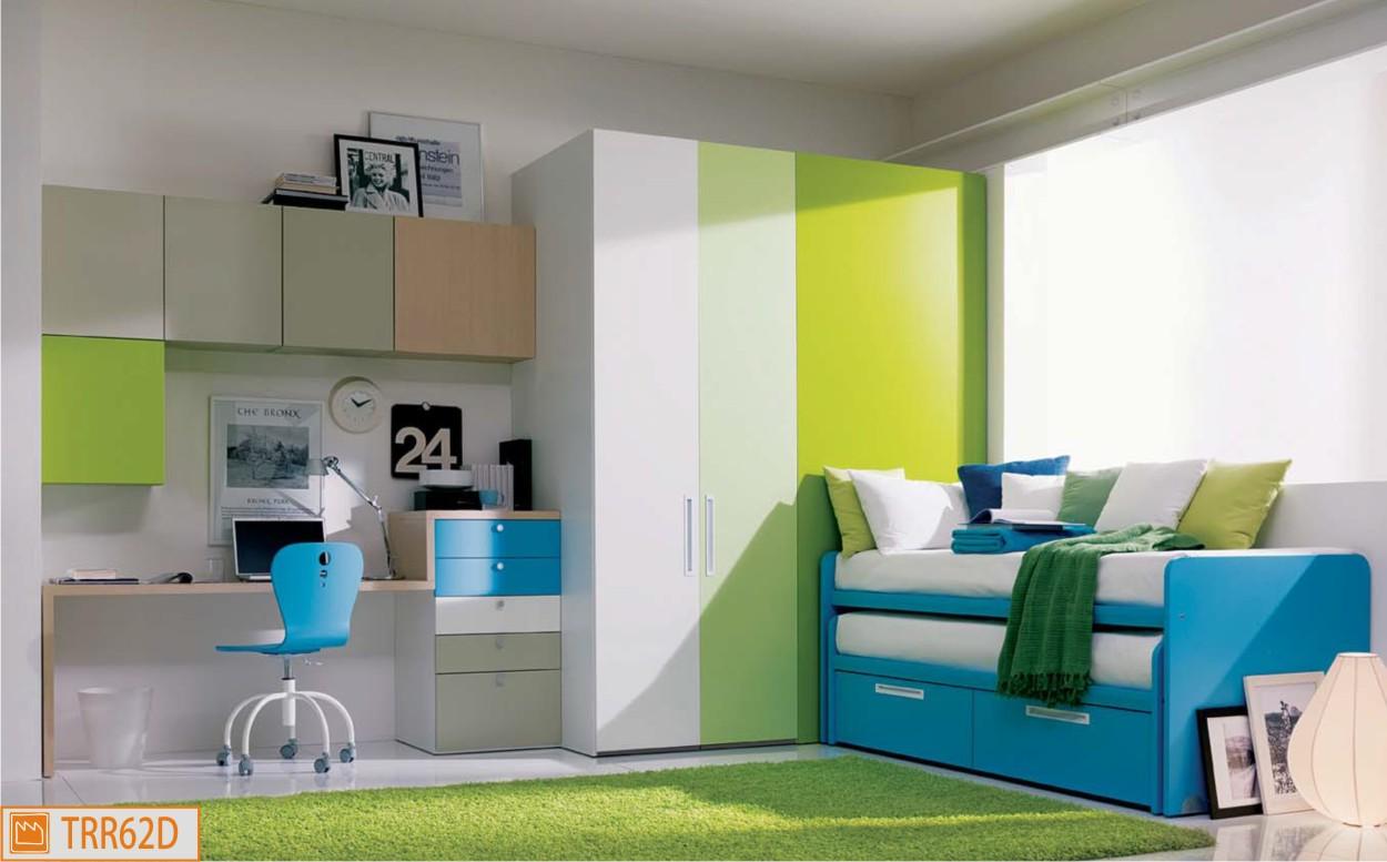 Cameretta dielle verde e azzurra for Cameretta per due