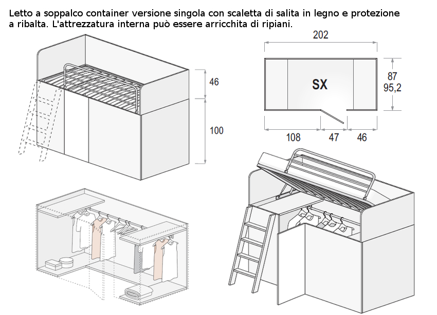 container singolo dielle