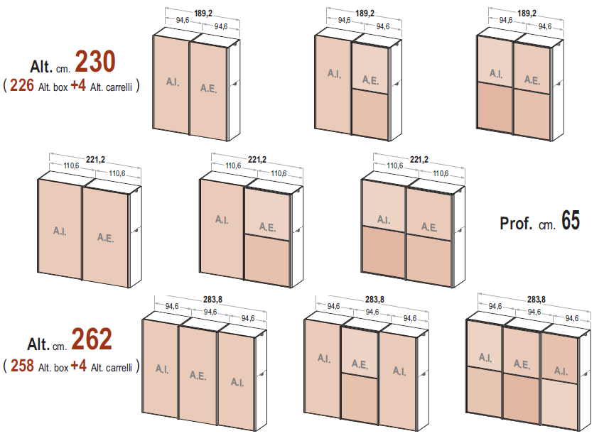 Le misure degli armadi dielle - Misure armadio camera da letto ...