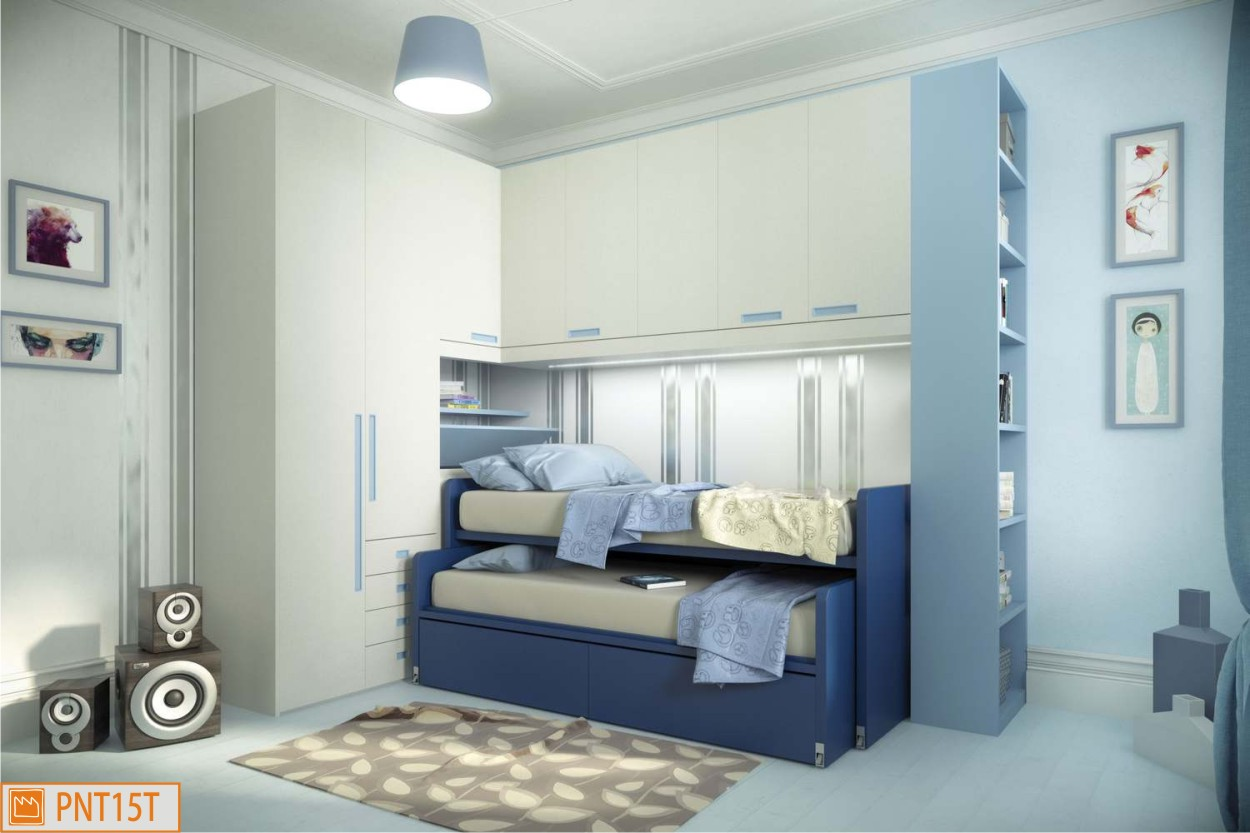 camera azzurra e blu