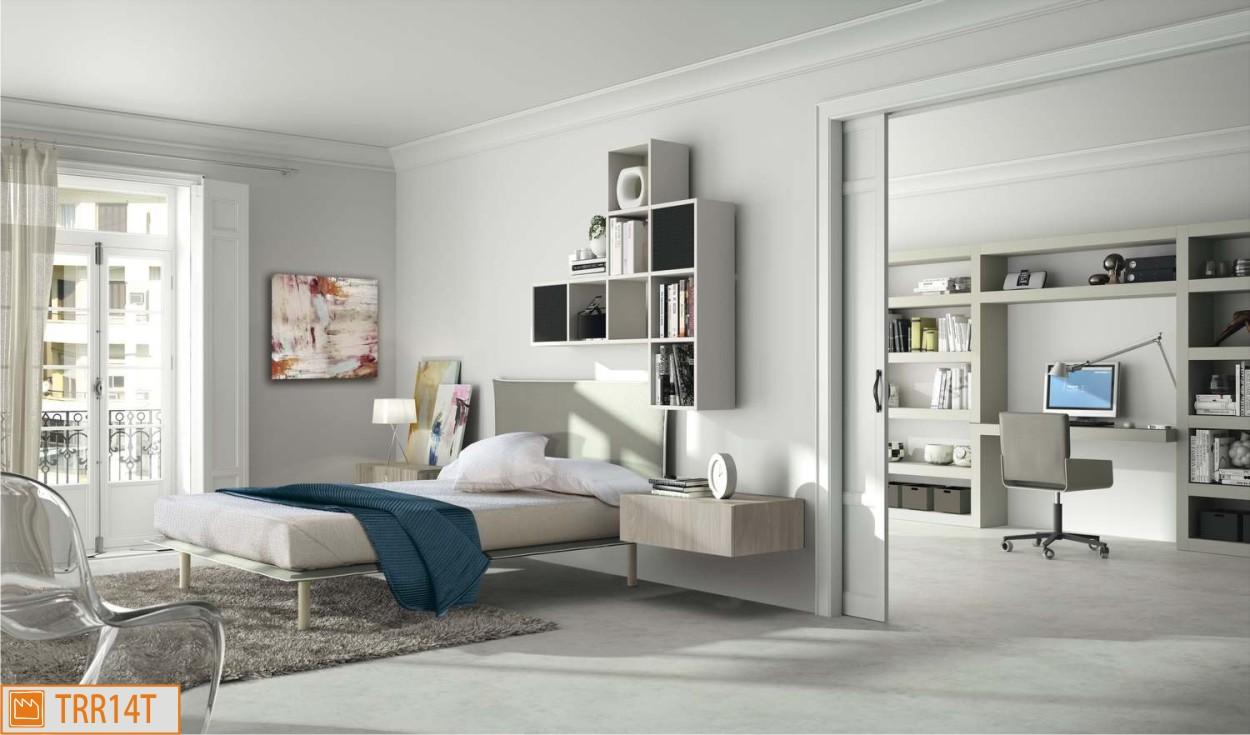 Cameretta singola con ufficio - Camera da letto singola moderna ...
