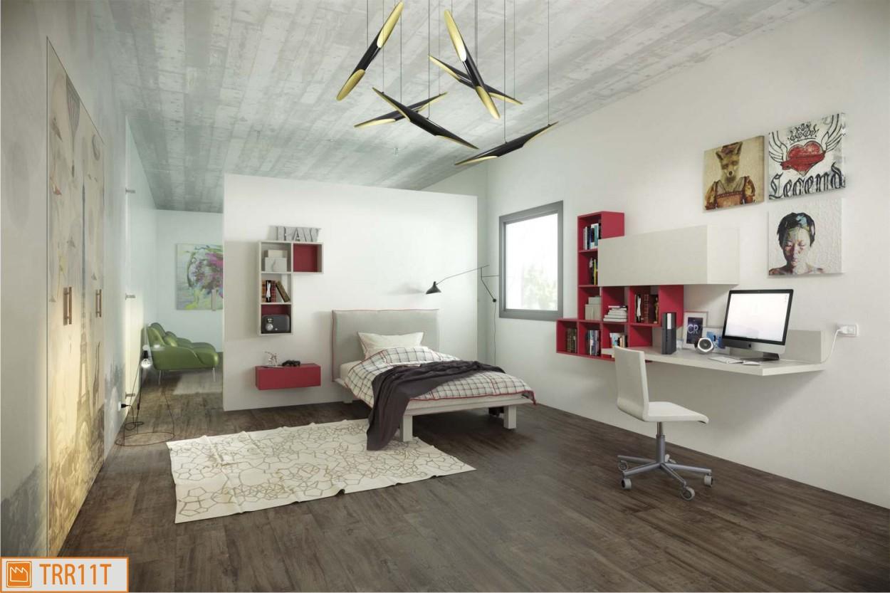 Camera singola moderna for Letto contenitore una piazza e mezza mercatone uno