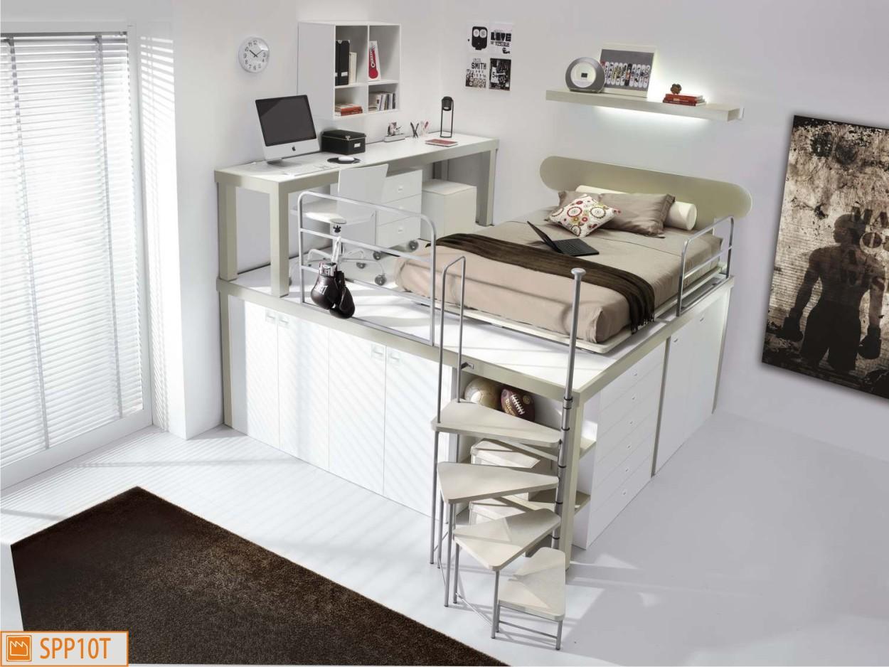 cameretta piazza e mezza a soppalco. Black Bedroom Furniture Sets. Home Design Ideas