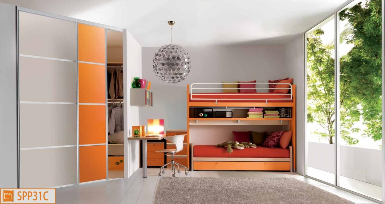 letto a castello arancio