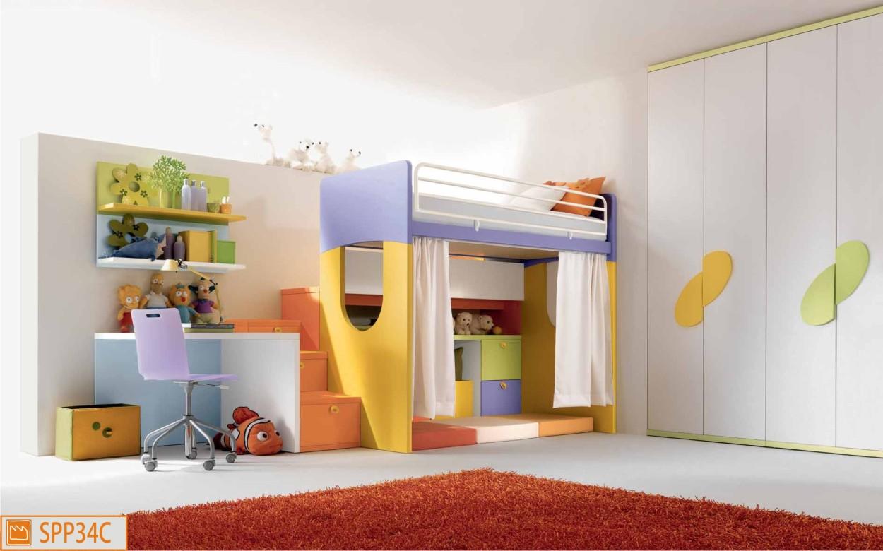 Letto a castello per bambini for Letti a castello per 3 bambini