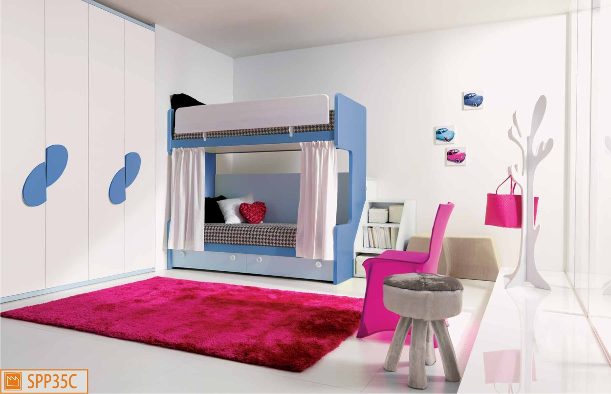 Letto a castello Smart con tendine