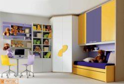 Cameretta per bambini con ponte e cabina