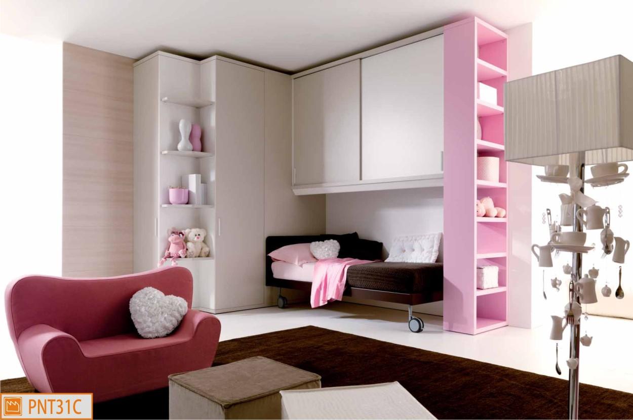 Cameretta a ponte per ragazze romantiche - Camere da letto moderne per ragazze ...