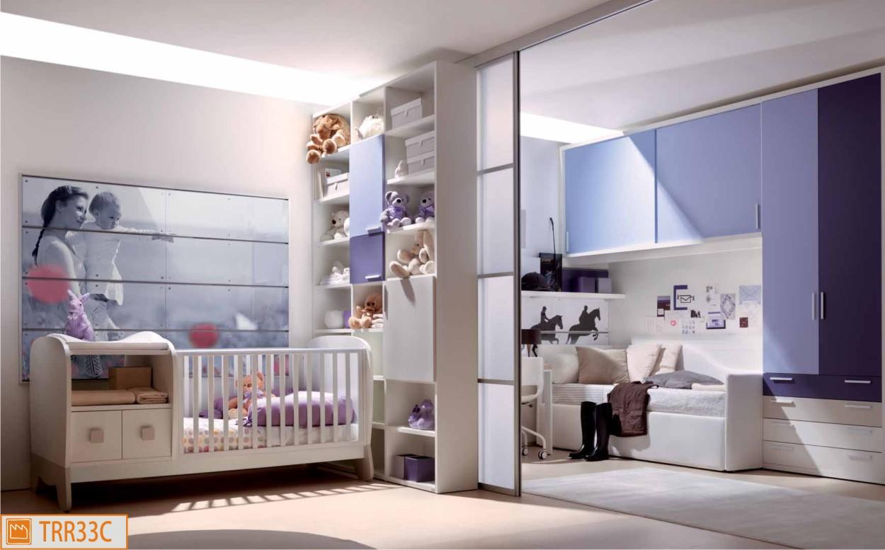 Due camerette in una grazie alle ante scorrevoli divisorie - Camerette bambini neonati ...