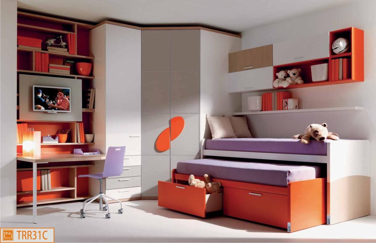 Camerette con doppio letto duetto | Mobili dalla Fabbrica