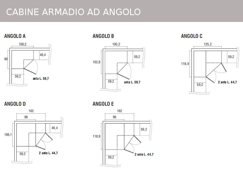 mobili doimo cityline: misure e componibilità - Misure Standard Per Una Cabina Armadio