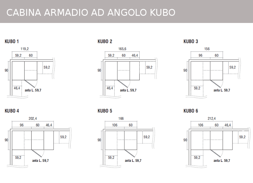 Mobili doimo cityline misure e componibilit - Cabina armadio dimensioni ...