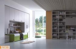Ponte lineare con libreria modulare