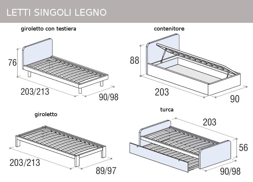 Mobili doimo cityline misure e componibilit - Letti singoli con doppio letto ...