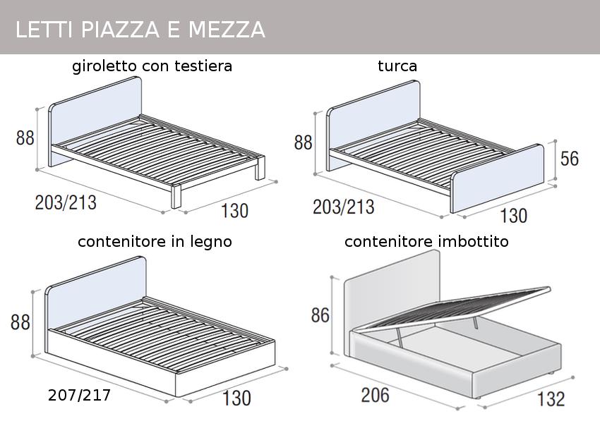 Mobili doimo cityline misure e componibilit for Quanto misura un letto ad una piazza e mezza