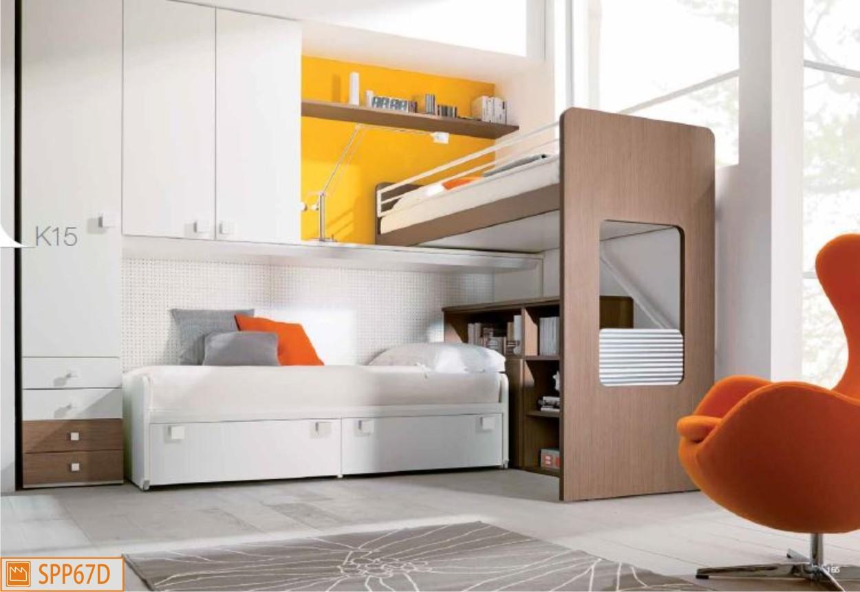 Soppalco angolare per ragazzi con due letti sempre pronti for Design camerette