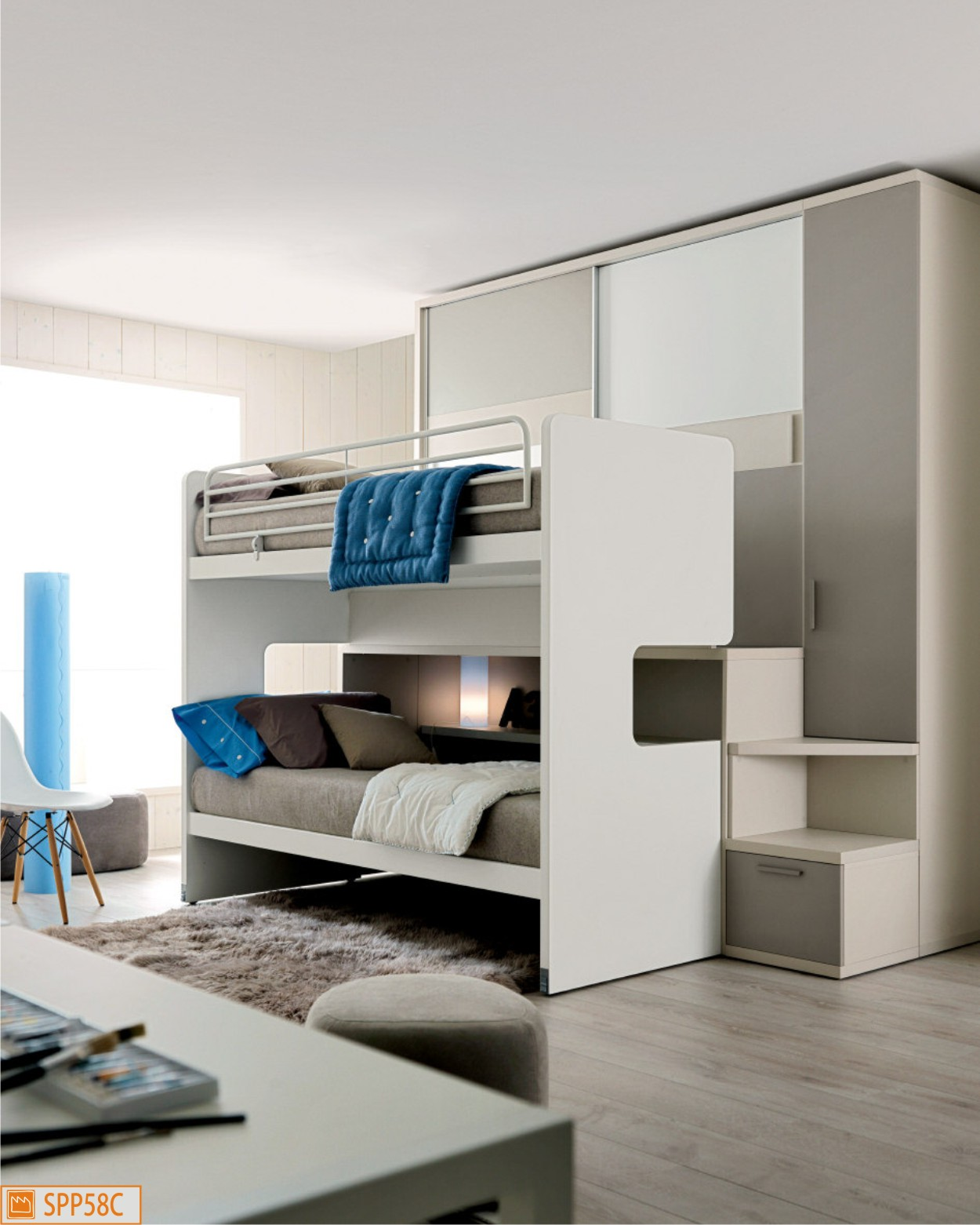 Cameretta a soppalco all in one roy con armadio - Armadio scorrevole ikea ...