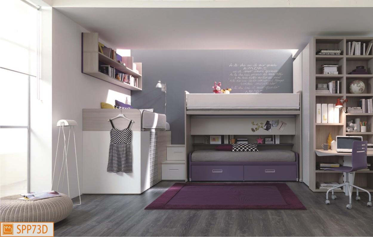 Tre letti sempre pronti con ampio guardaroba e scrivania for 3 camere da letto 3 piani del bagno