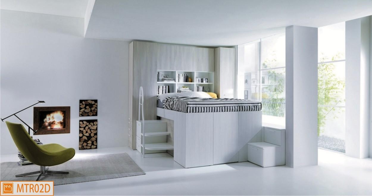 Container matrimoniale il soppalco con l 39 armadio - Camere da letto soppalco ...