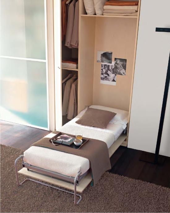 letto singolo a ribalta verticale