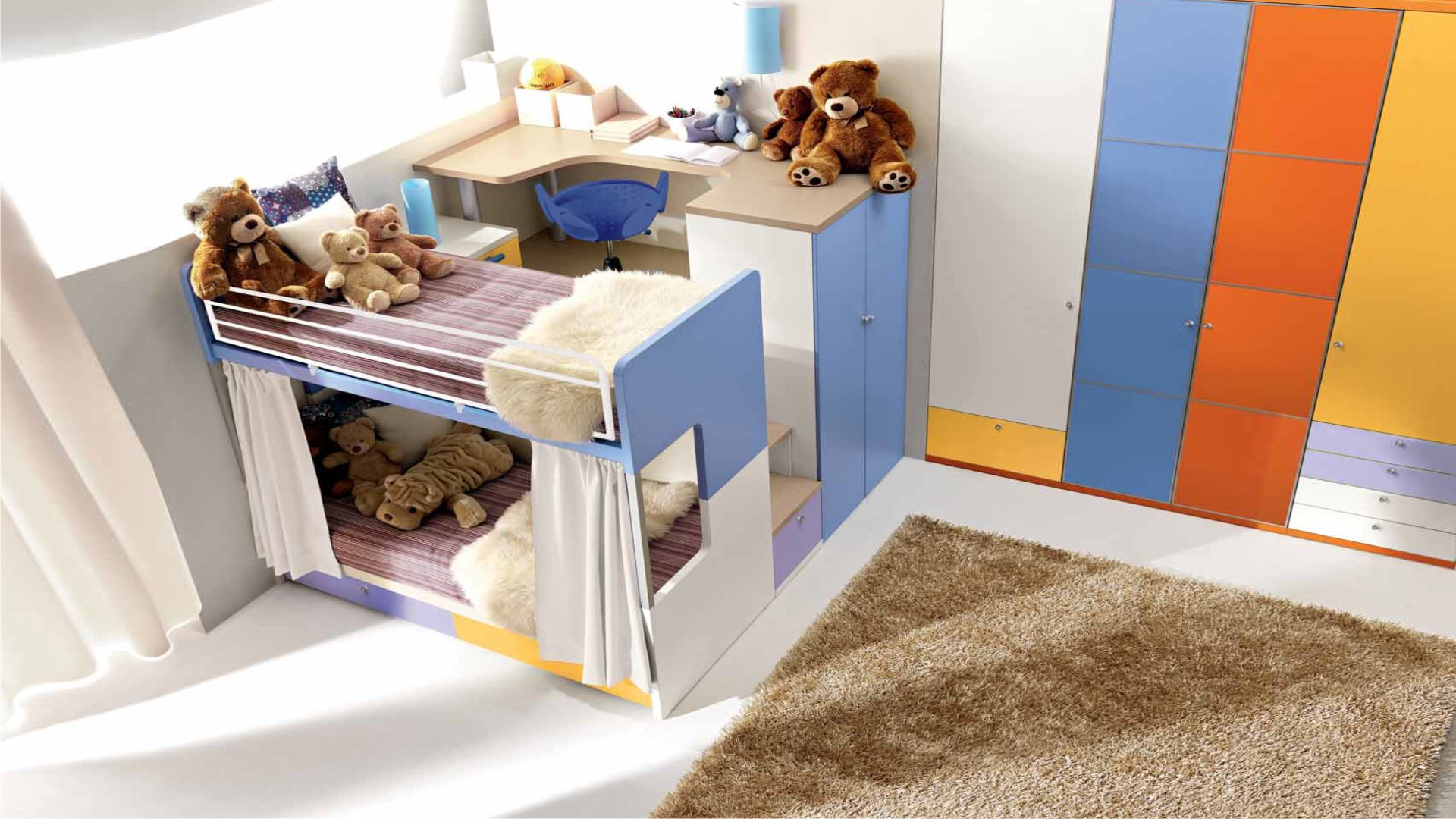 camerette dalla fabbrica: camere per ragazzi e per bambini - Mobili Design Per Bambini Milano