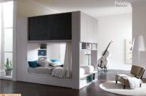 Camera moderna wengè e bianco Palafitta