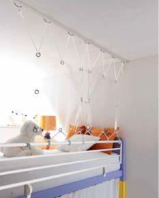Barriera a soffitto per letto a castello