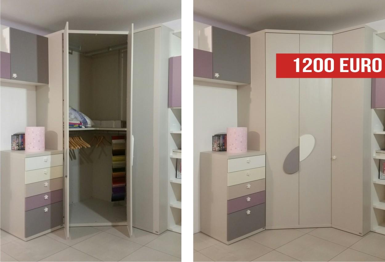 Offerta outlet: cabina armadio per cameretta
