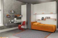Ponte, letto imbottito e cabina armadio