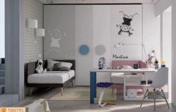 Cameretta simmetrica con divanetto Manhattan