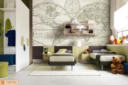 Camera elegante e spaziosa per ragazzi