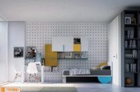 Cameretta con letto x-bed luna e wallpaper