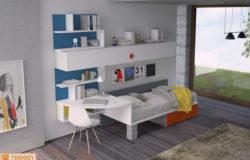 Cameretta X-bed con scrivania integrata