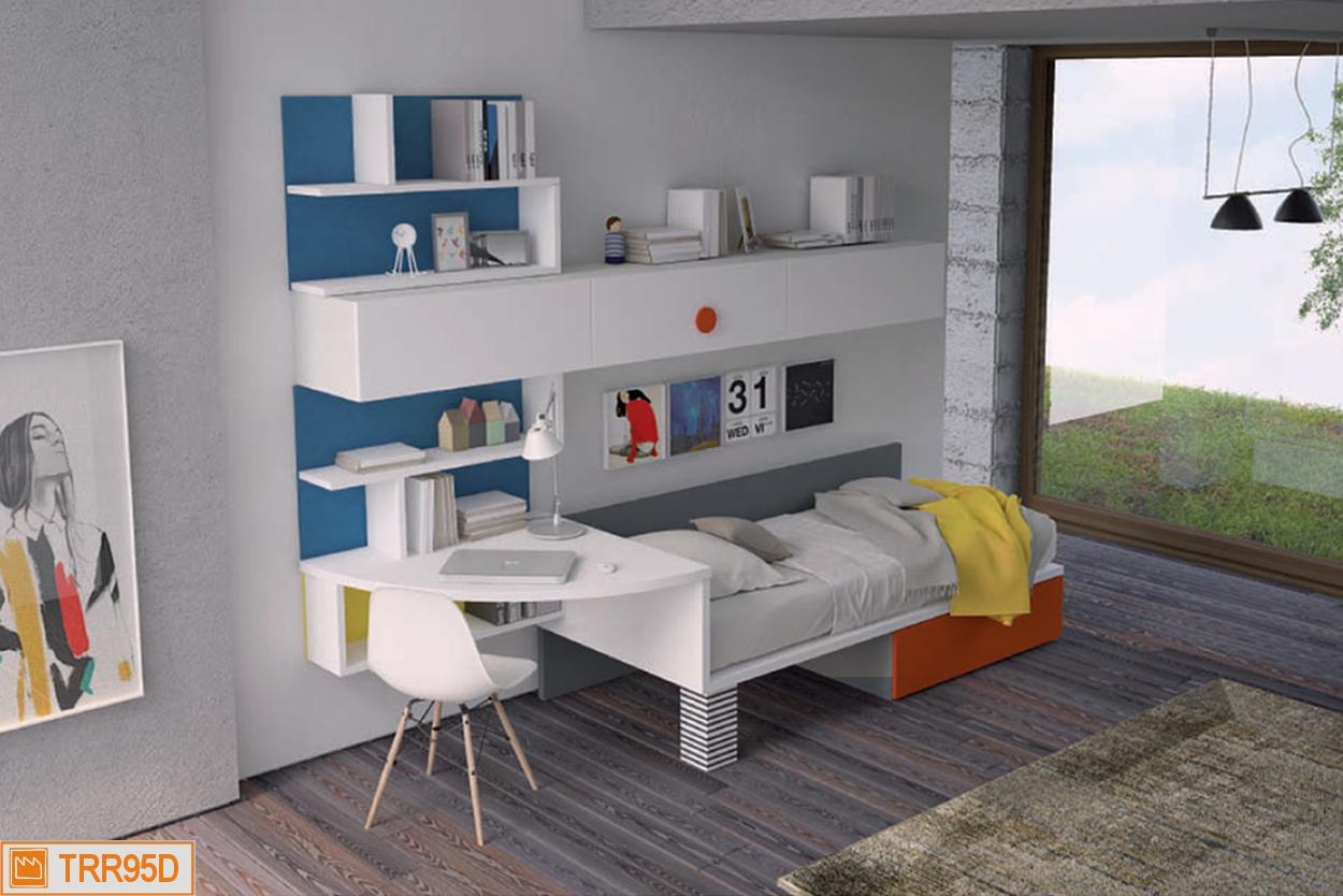 X-bed con angolo scrivania